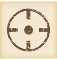 Grungy target icon vector image