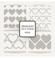 Set of seamless patterns with embroidered vector image