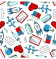 Science and laboratory research seamless pattern vector image