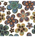 tiny floral seamless pattern vector image