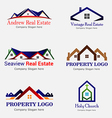 Real Estate Logo Logos vector image