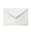 Slightly ajar opened white envelope isolated vector image