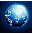 Abstract earth globe vector image