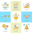 Growth and start up concepts icons vector image