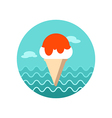 Ice Cream icon Summer Vacation vector image