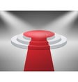 Illuminated with spotlight stage podium for award vector image