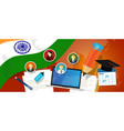 india education school university concept with vector image