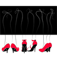 legs in red and black shoes vector image