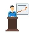 Report presentation vector image