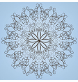 Round lace ornete vector image
