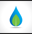 Save nature concept with waterdrop and leaf vector image
