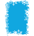 snowflakes grunge frame vector image