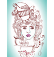 tea time girl vector image