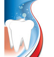 Tooth background vector image