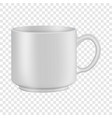 white tea or coffee cup mockup realistic style vector image