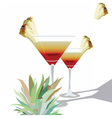 Two Cocktail Glasses vector image