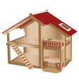 Small playhouse for kids vector image vector image