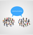large group of people with talking bubble vector image