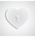 Paper heart with keyhole vector image