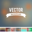 resizeable blur background gradient mesh collectio vector image vector image