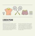 Badminton Concept vector image