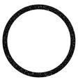 Circle Grainy Texture Icon vector image