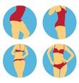 girls lingerie vector image