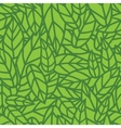 Green leaf nature seamless pattern vector image