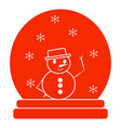 merry christmas object vector image