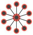 network concept circles single icon vector image