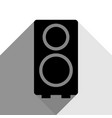 speaker sign black icon with vector image