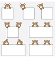 Teddy bear holding blank banners vector image
