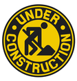 under construction sign with man vector image