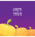 halloween invitation border with pumpkins vector image