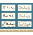 Handmade labels vector image