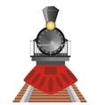 Old steam locomotive vector image