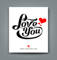 Happy Valentines day message love you vector image