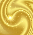 Gold abstract background with stars and particles vector image vector image