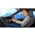 smile driver vector image vector image