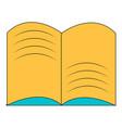 old open magic book icon cartoon style vector image