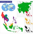 Southeastern Asia map vector image