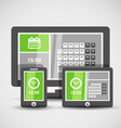 Modern gadgets with abstract tile interface vector image