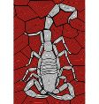 scorpion design vector image