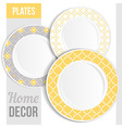 Set of 3 matching decorative plates vector image
