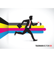 cmyk side business runner vector image vector image