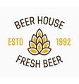 beer hop logo and design elements vector image