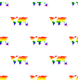 Seamless background with Gays icons vector image