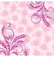 Decorative pink floral background vector image