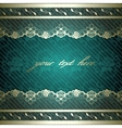 Lacy design on dark green vector image vector image