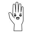 hand human kawaii character vector image